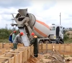 доставка бетона миксером на объект