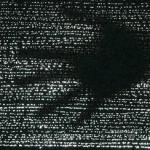 Силуэт руки на просвете оптического бетона