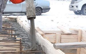 бетонирование зимой