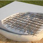 армированный бетон в разрезе