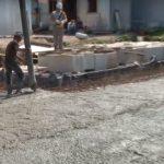 заливка произведенного бетона