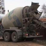 доставка изготовленного бетона бетоновозом