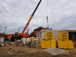 бетонная заливка плиты перекрытия