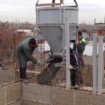 заливка стен бетоном
