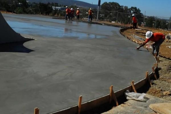 твердение бетона